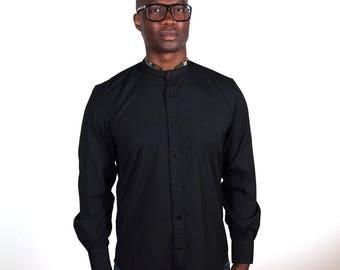 Shirt man in wax details Achille Wave