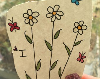 personalized flower greeting card