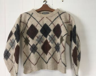 VINTAGE Cropped Woolen Jumper Size Small