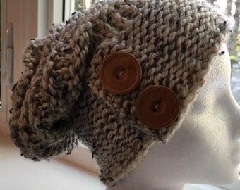 City Slouchy Hat with Fingerless gloves