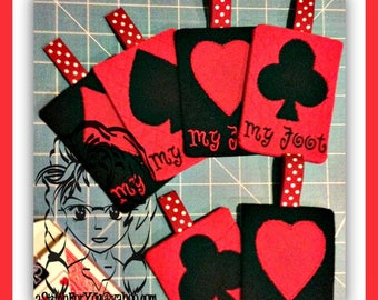 CARDs PLaYING SHaPES - Club Spade Heart & Diamond Applique Designs - INSTANT Download Machine Embroidery Design by Carrie