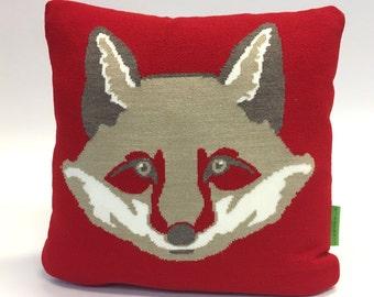 The Light Brown Fox Pillow - Knit Cushion