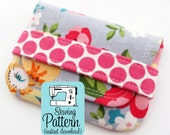 Card Wallets PDF Sewing Pattern | Sewing pattern for quick to make pouches to use as business card case, gift card pouch, or mini wallet.