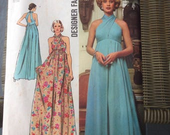 1972 Simplicity Misses Halter Dress Pattern #5364