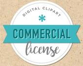 Commercial License for Digital Clipart Set