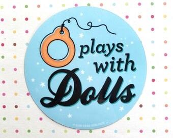 PLAYS WITH DOLLS Vinyl Sticker Blythe Doll - Blue