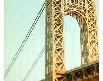 Landscape Photograph - New York Photography - George Washington Bridge Art- Bridges Of NYC Part 9- Fine Art Photograph - New York City Print