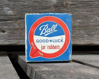Vintage Ball Good Luck Jar Rubbers