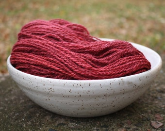 Cranberry Sauce - Handspun Alpaca, Merino, Mohair, Silk, Qiviut, and Cashmere