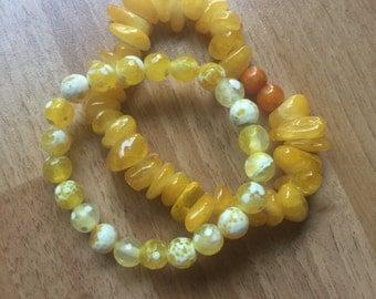 Lovely Yellow Bracelet Stack of Spring Inspired Sunshine