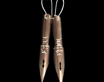 Antique Pen Nib Earrings