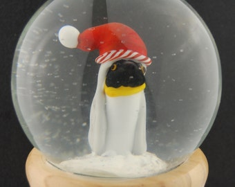 Young Penguin Glass Snow Globe by Marcy Lamberson