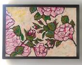 DEPOSIT for Sarah. Antique Roses, Original Painting, Joy, Bohemian, Art, Cheery, Rustic, Wall Art, Home Decor, Cottage Decor