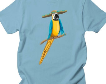 Macaw Shirt - Animal Shirt - Parrot Shirt - Printed Shirt - Animal Print - Unisex Shirt - Customizable Shirt - Art Shirt