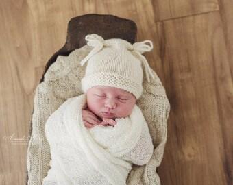 Preorder Flour sack Hat  NEWBORN props BABY