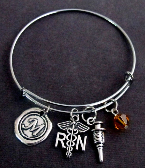 RN Registered Nurse Bangle Bracelet,Personalized Nurse Bracelet,Registered nurse graduate bangle,Nursing Graduation bangle,Free Shipping USA