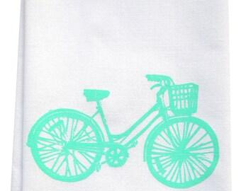 bike tea towel ORGANIC cotton limited edition MINT