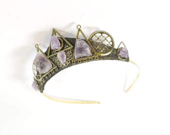 Amethyst Crystal Tiara - Queen of the Ruins Series - by Loschy Designs