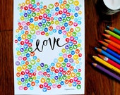 PREORDER: love - 5 x 7 inches