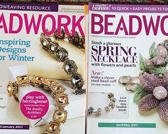 2011 & 2012 Beadwork - 6 Back Issues