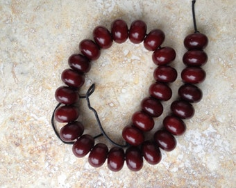 Colombian amber beads, large, brown