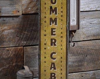 Summer Cabin Sign, Custom Wood Sign for Cabin Lover Gift, Family Cabin Decor, Rustic Cabin Sign, HandMade Vintage Wooden Sign ENS1001857
