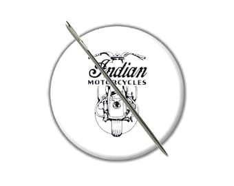 Indian Motorcycle needle minder magnet counted cross stitch tool sewing notion wife gift under 10 stocking stuffer needlepoint embroidery