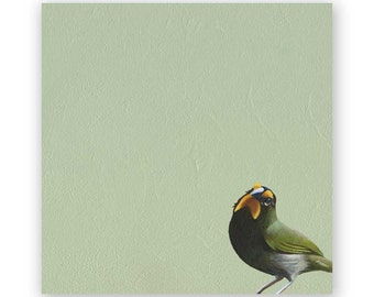 Yellow-Faced Grassquit - 8 x 8 Wings on Wood Decor