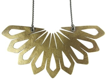 Tana Mini Collar - mixed metal - brass and sterling silver - statement necklace
