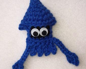 Blue Squid Ornament
