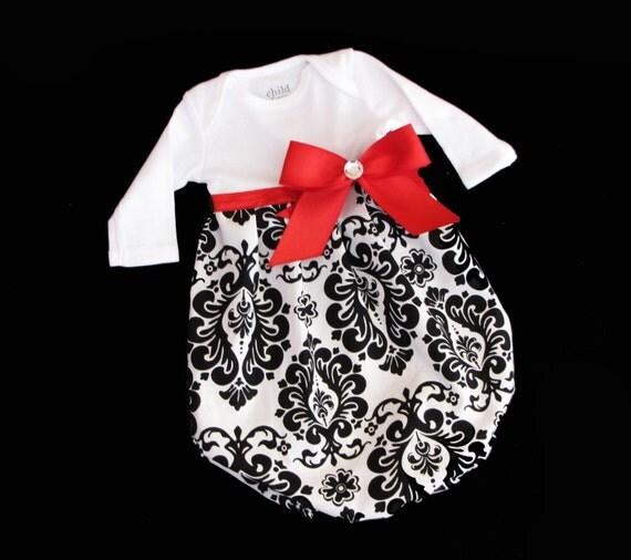 store black white damask sleeveless baby dress
