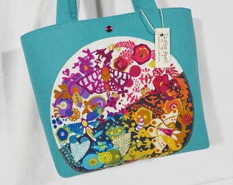 Alison Glass Ex Libris Art Theory purse tote bag Bags by April Flowers Butterflies