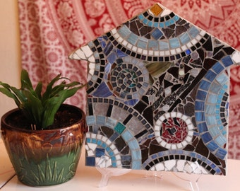 Glass House Number Three  Round and Round Stained Glass Mosaic
