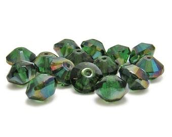 Rondelle Beads - Fire Polished Beads - Czech Rondelle - Rivoli Rondelle - Fire Polished Rondelle - Czech Glass Beads - 15pcs (5647)