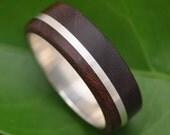 White Gold Solsticio Nacascolo Wood Ring