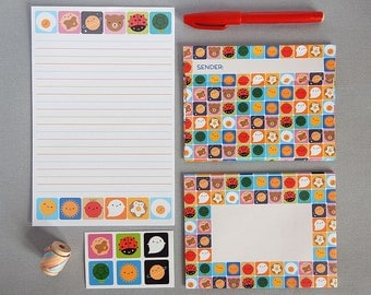 Look Around Letter Set - kawaii writing paper, envelopes & stickers