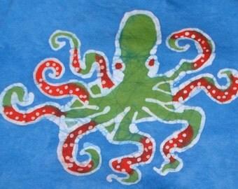 Kids Octopus Batik Sea Creature Tshirt