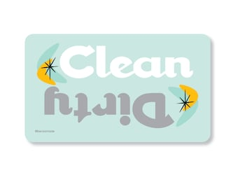Clean Dirty Dishwasher Magnet. Gift for Mom. Gift for Grandma. Stocking Stuffer. Secret Santa Gift. Retro Kitchen. Made in the Midwest.