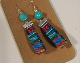 Ethnic Fabric Fiesta Earrings