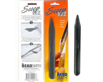 SCOOP EEZ Scoopy tool for Jewelry Making, Beading, Beadweaving Bead Smith put small findings into storage containers tubes