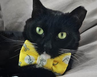 Mouse Print Bow Tie for Cats