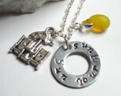 Sun Your Buns Metal Stamped Necklace, Nudist Necklace, Naturist Saying Metal Stamped Necklace, Naturist Jewelry, Nude Jewelry
