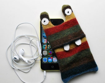 Multi Color Stripey Monster iPod or iPhone Cozy