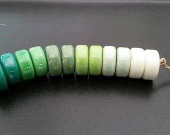 Green with Envy Handmade Lampwork Beads by Judy Daly Reganti Wheels SRA