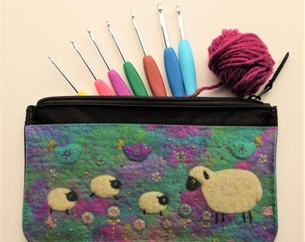 Multi-purpose Pouch with Printed Sheep Design