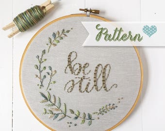Be Still digital hand-embroidery pattern