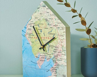 Map Wall Clock Etsy