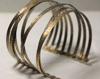 Stacked Brass Cuff