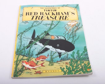 The Adventure of Tintin, Red Backham's Treasure, Magnet, Graphic, Children's Book, Vintage ~ The Pink Room ~ 161026B