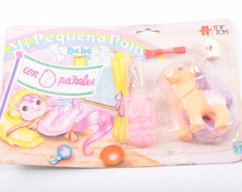 My Little Pony, Argentina, Drink N Wet, aby, With Diapers, Play Set, In Package, Unopened, Bottles, Accessories, Vintage ~  160928